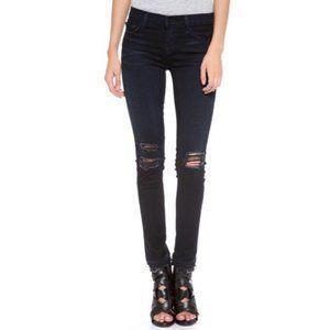 J Brand 811 Distressed Skinny Jeans in Blacklash